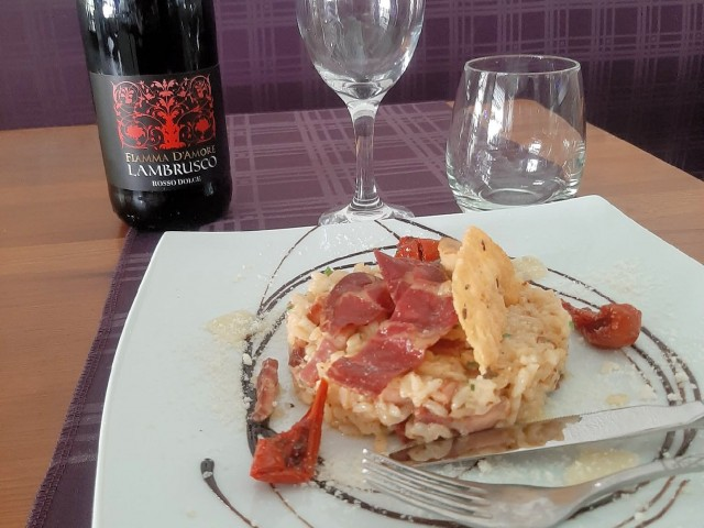Pizzeria 45 - Casa Francesca Risotto façon carbonara (suggestion du moment)